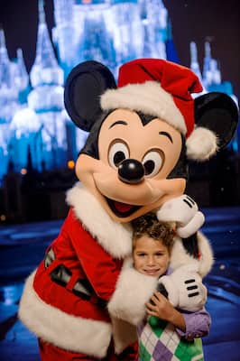 Mickey and a friend during Mickey's Very Merry Christmas Party