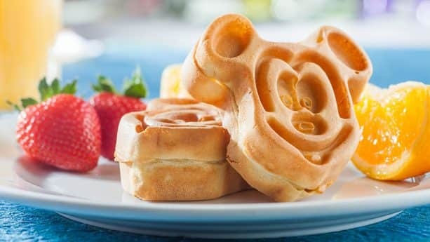 Mickey waffles onboard a Disney cruise