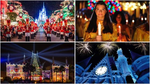 Collage of Holiday Offerings at Walt Disney World Resort