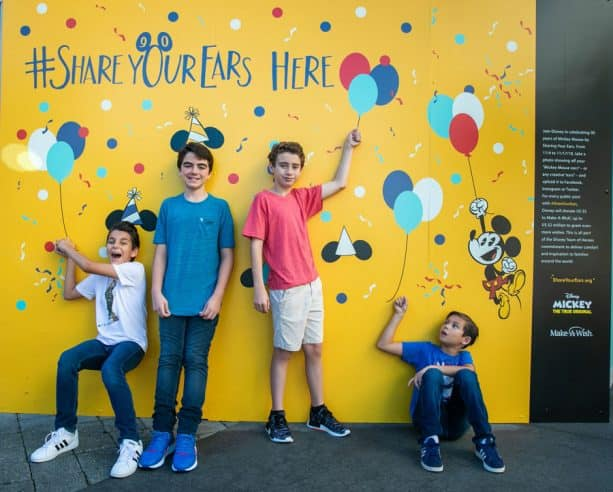 #ShareYourEars wall at Disney Springs