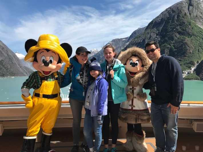 'Frozen' Songwriters Robert Lopez and Kristen Anderson-Lopez and their family on a Disney Cruise to Alaska