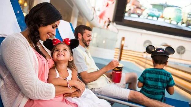 Family aboard Disney Cruise Line