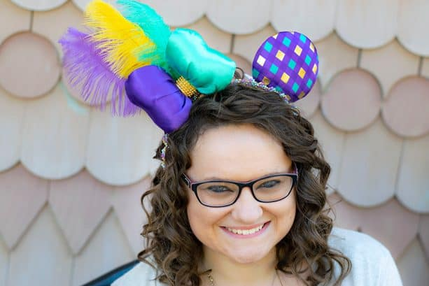 Mardi Gras-inspired Minnie Mouse ears