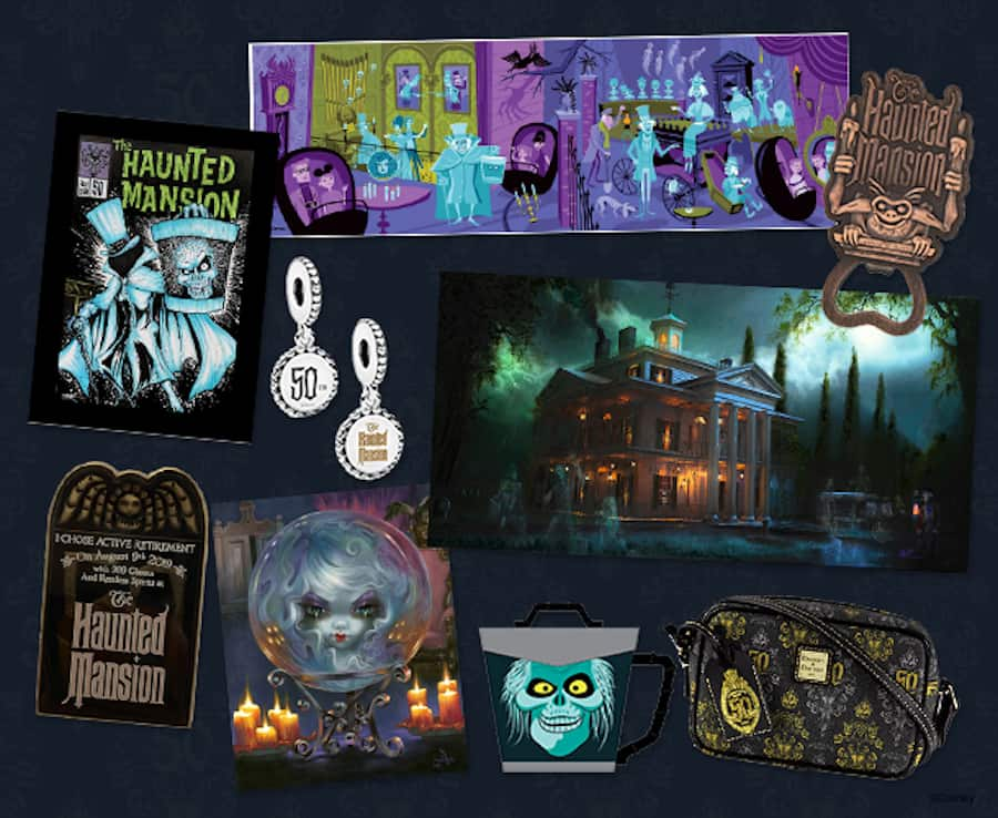'The Haunted Mansion: Celebrating 50 Years of Retirement Unliving' Merchandise