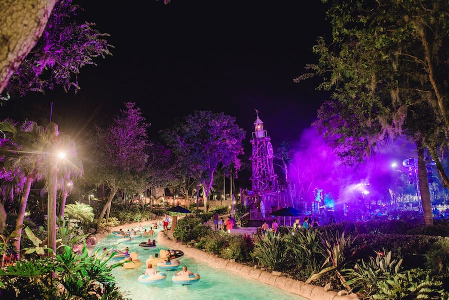 H2O Glow Nights at Typhoon Lagoon Water Park