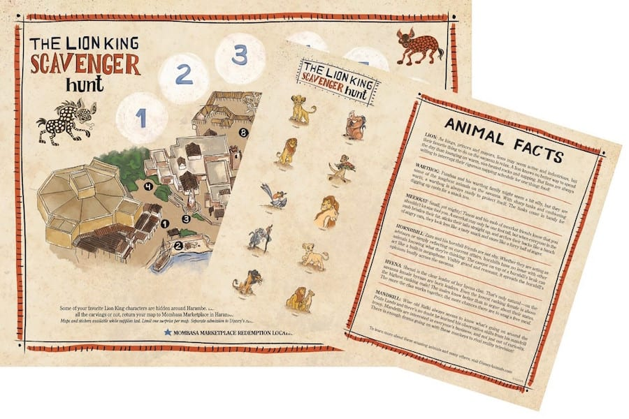 """new scavenger hunt in Africa themed to """"The Lion King"""""""