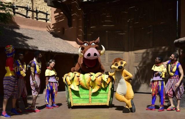 Timon and Pumbaa at Disneyland Paris