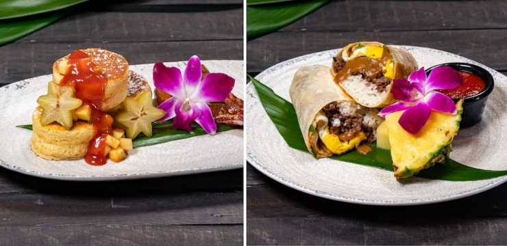 Breakfast Offerings from Tangaroa Terrace Tropical Bar & Grill at the Disneyland Hotel