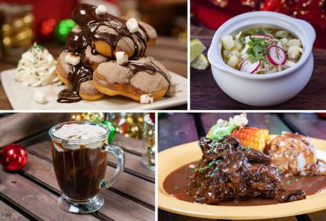 Collage of New Orleans Square Offerings for Holidays 2019 at Disneyland Park