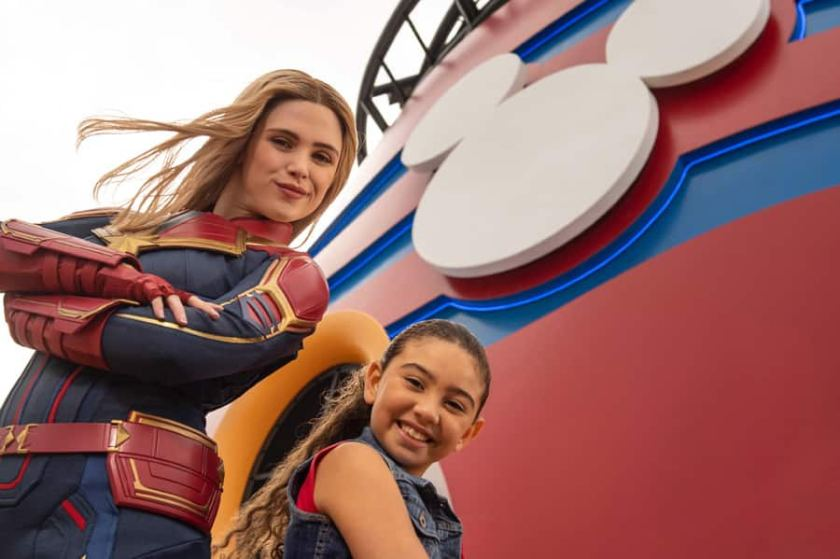 Encuentros de personajes a bordo de Disney Cruise Line: Captain Marvel