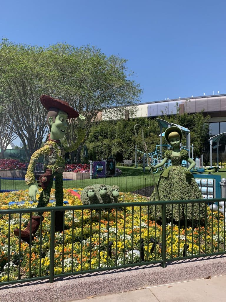 Toy Story topiaries at Walt Disney World Resort