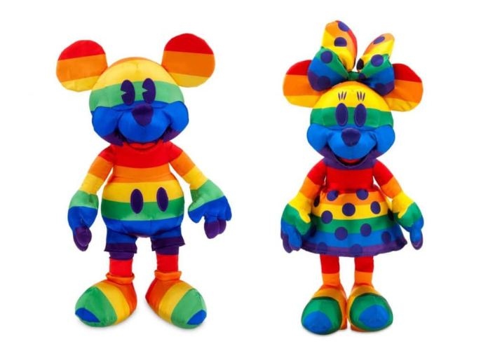 Rainbow Disney Collection items: Mickey Mouse and Minnie Mouse plush