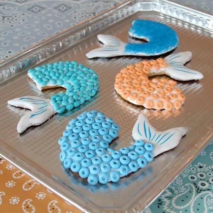 galletas de cola de sirena