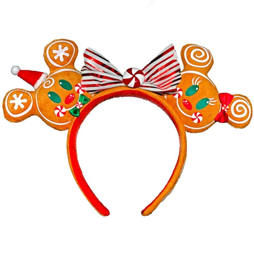 Diadema con orejas de Mickey y Minnie de pan de jengibre
