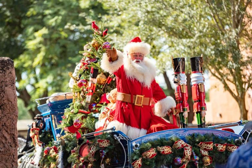 Santa en EPCOT durante Taste of EPCOT International Festival of the Holidays