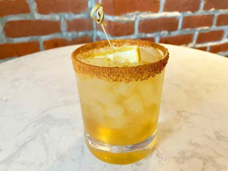 Apple Cider Whiskey Sour, The Polite Pig