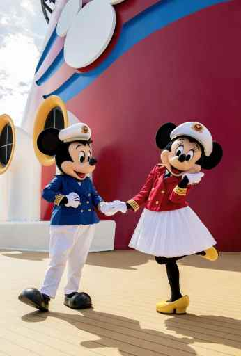 Mickey and Minnie Mouse on the Disney Magic