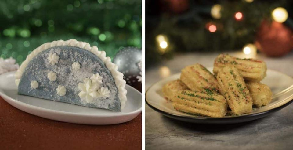 Let It Snow Taco and Christmas Churros at Magic Kingdom Park