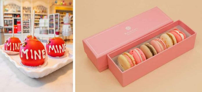 Collage of Valentine's Day sweets found at Downtown Disney District