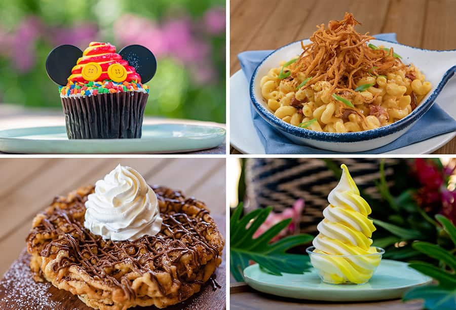 Dining Guide  - Jolly Holliday Cupcake, River Belle Skillet Brisket Mac & Cheese, Stage Door Cafe Nutella Funnelcake, Tropical Hideaway Pineapple Lemon Whip