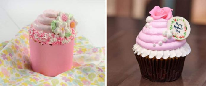 Mother's Day Sweet Blossom Cupcake and Mother's Day Red Velvet Cupcake