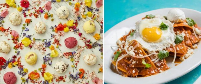 Ice cream flavors from Salt & Straw and Mother's Day brunch item from Tortilla Jo's at Disneyland Resort