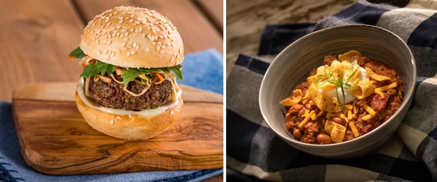 The Impossible Burger Slider and Impossible Three-Bean Chili