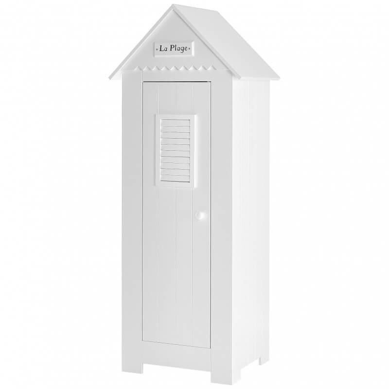 armoire blanche une porte en forme de cabine de plage pour chambre d enfant