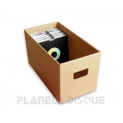 boite de rangement en carton pour singles 45t