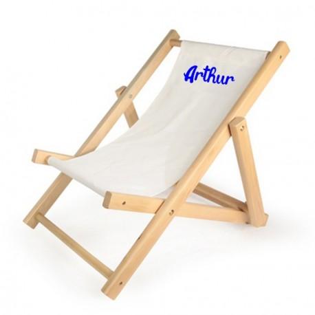 chaise longue enfant personnalisee ecrue