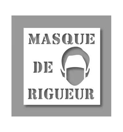 Pochoir Covid 19 Masque De Rigueur A Partir De 38 99 Ht