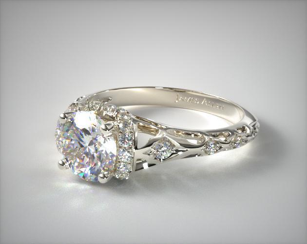 Enchanted Filigree Engagement Ring Platinum James