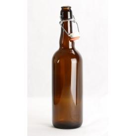 bouteille de biere long neck 33cl brun 26mm x24