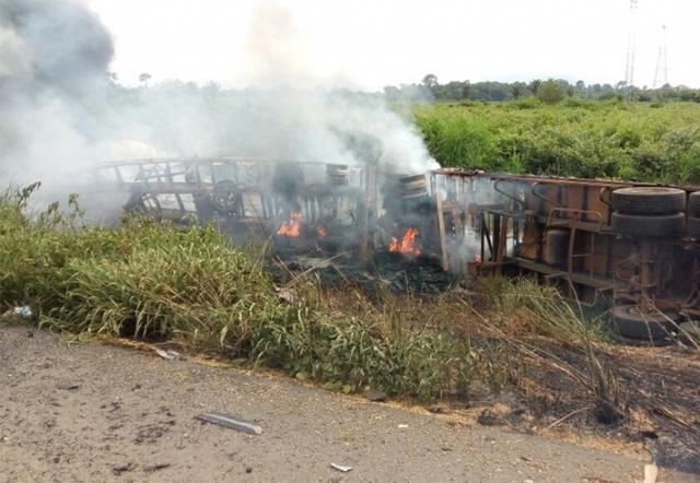 Acidentes nas rodovias federais de Rondônia deixam 17 pessoas feridas e uma morta