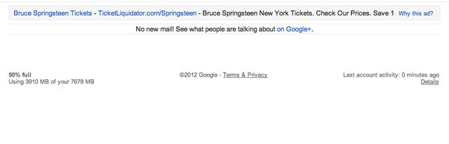 google promotes google plus on empty gmail inbox