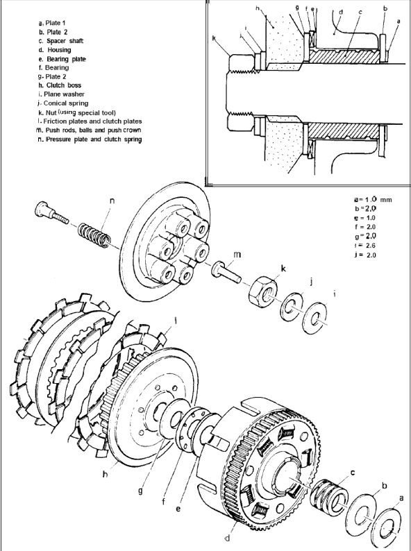 xs650 clutch assembly thexscafe Wiring Diagram for 1979 Yamaha XS650