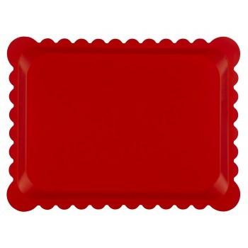 Poze Tava multistrat, model dantelat, 30x40 cm, culoare rosu mat