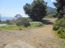 The trailhead for the Trans-Catalina Trail