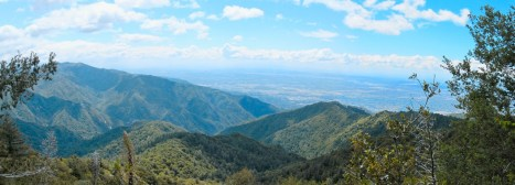 Panorama of the LA basin from Sturtevant Trail