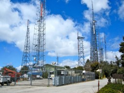 Vast array of telecommunications towers