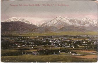 An old postcard of Mt Baldy