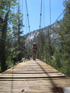Wood Creek suspension bridge crossing