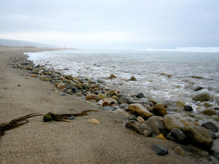 Trestles beach can be rocky