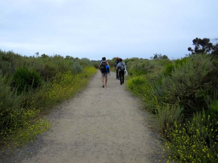 Walking down toward Trestles