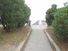 Path to beach access stairs