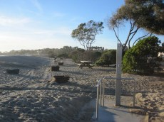 The edge of Doheny State Beach campground