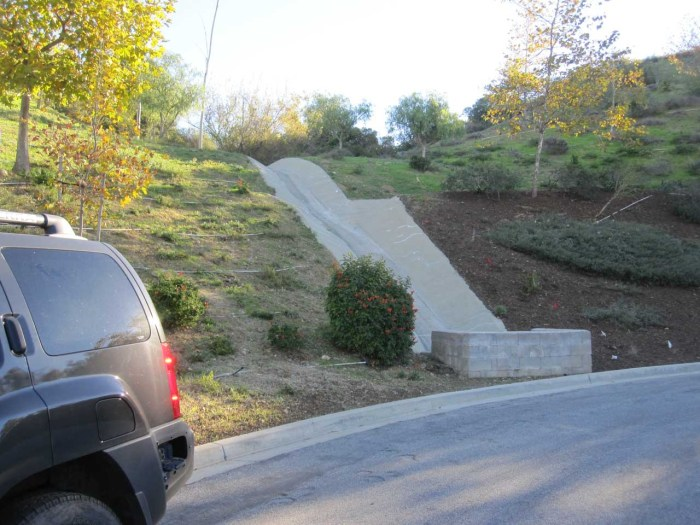 Yes, we are actually take a shortcut up that culvert
