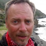 """Jeff """"SoCal Hiker"""" Hester at the western terminus of the Trans-Catalina Trail -- Starlight Beach."""