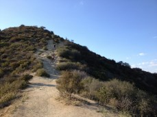 A steep section on the Hero Trail