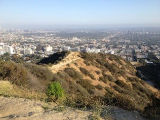 Looking down the ridge over Runyon Canyon